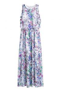 Sukienka w kwiaty maxi hm