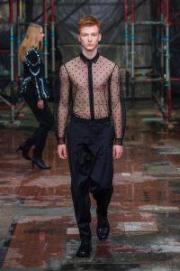 bluzka męska przezroczysta Mariusz Przybylski