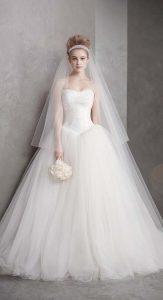 suknia ślubna długi welon 2019 Vera Wang
