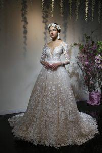 suknia ślubna z wiankiem yumi katsura 2019
