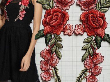naszywki róże